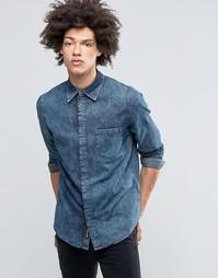 Мраморная джинсовая рубашка цвета индиго Cheap Monday Rude