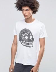Футболка с принтом черепа Cheap Monday - Белый