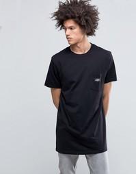 Черная длинная футболка с логотипом на кармане Cheap Monday Dragged