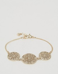 ASOS Pretty Filigree Disc Bracelet - Золотой