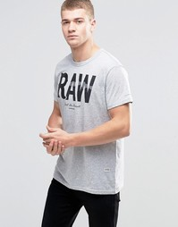 Футболка с принтом RAW G-Star Leacht - Серый вереск