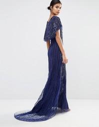 Платье макси с кружевной отделкой A Star Is Born - Темно-синий