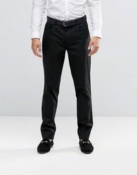 Черные строгие брюки скинни с 5 карманами ASOS - Черный