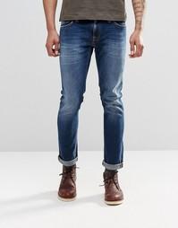Темно-синие облегающие джинсы Nudie Long John - Темно-синий
