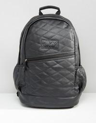 Стеганый рюкзак из искусственной кожи Heist - Черный