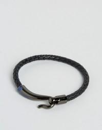 Черный плетеный браслет с крючком Ted Baker - Черный