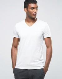 Меланжевая футболка с V‑образным вырезом Esprit - Бежевый