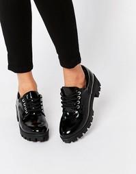 Туфли на массивной подошве ALDO - Блестящий черный