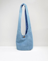 South Beach Slouch Chambray Beach Bag - Темно-синий