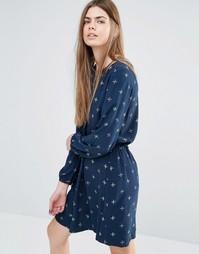 Платье-рубашка с принтом и шнурком на поясе Vanessa Bruno Athe