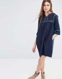 Свободное платье с пуговицами спереди Vanessa Bruno Athe - Темно-синий