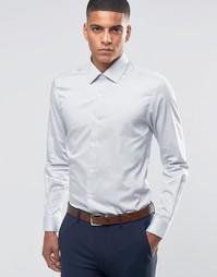 Строгая рубашка скинни в горошек Number Eight Savile Row