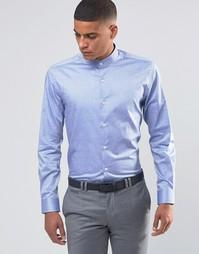 Рубашка с воротником с застежкой на пуговицы Number Eight Savile Row
