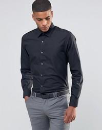 Зауженная рубашка в строгом стиле Number Eight Savile Row - Черный