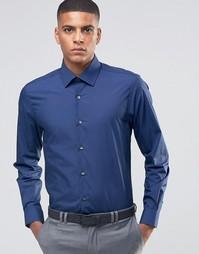 Зауженная рубашка в строгом стиле Number Eight Savile Row