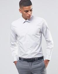 Зауженная рубашка в строгом стиле Number Eight Savile Row - Stone