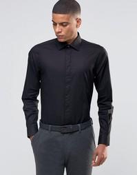 Строгая рубашка скинни с фигурной строчкой на груди Number Eight Savil