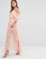 Платье макси Dark Pink - Peach