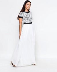 Платье макси с кружевным топом Rare