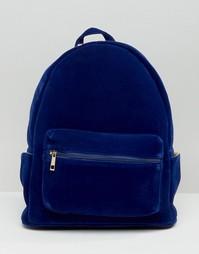 Бархатный рюкзак Daisy Street - Синий