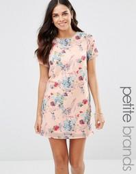 Платье с цветочным принтом Yumi Petite - Розовый
