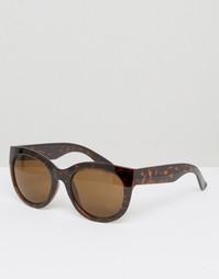 Monki Tortoise Cat Eye Sunglasses - Черепаховый