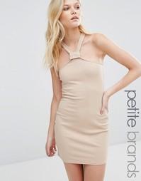 Облегающее платье в рубчик с лямкой через шею Missguided Petite