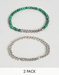 Набор из 2 браслетов Reclaimed Vintage Malachite