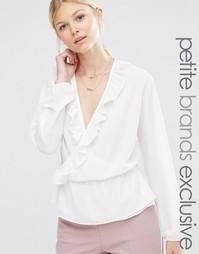 Блузка с длинными рукавами и запахом с оборками Alter Petite