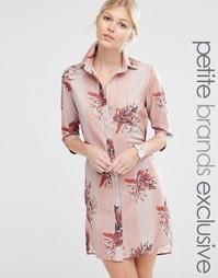 Полосатая ночная сорочка с цветочным принтом Alter Petite - Мульти