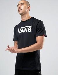 Черная футболка с логотипом Vans Classic VGGGY28 - Черный