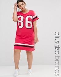 Трикотажное платье‑футболка Pink Clove - Розовый