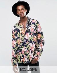 Свободная фестивальная рубашка Reclaimed Vintage - Темно-синий