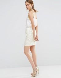 Жаккардовая облегающая юбка Uttam Boutique - Золотой