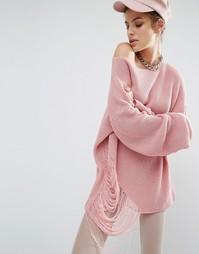 Свободный трикотажный джемпер Bones - Розовый