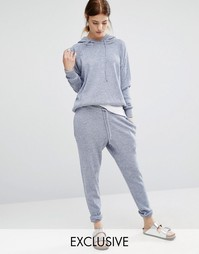 Stitch & Pieces Knitted Joggers - Синий меланж