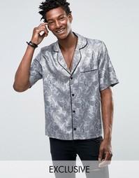 Пижамная рубашка классического кроя Reclaimed Vintage - Серый