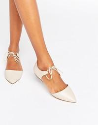 Кожаные туфли с заостренным носком ALDO Chessi - Bone