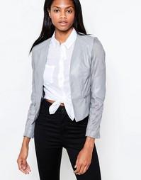 Куртка из полиуретана и искусственной замши Barneys Originals - Серый
