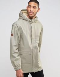 Куртка-дождевик с капюшоном на подкладке борг Bellfield - Серый