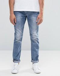 Винтажные джинсы слим Blend Twister - Светло-голубой