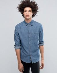 Синяя джинсовая рубашка Cheap Monday Rude - Offset blue