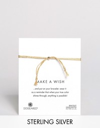 Dogeared Make A Wish Multi Strand Gold Silk Adjustable Bracelet