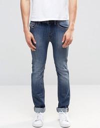 Diesel Thavar Slim Jeans 855L Mid Wash - Умеренный выбеленный