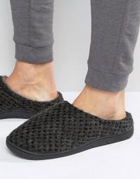 Серые вязаные слиперы Dunlop - Серый