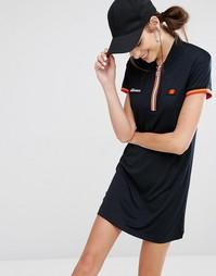 Платье с молнией и ткаными нашивками Ellesse - Черный