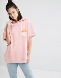 Худи с короткими рукавами и винтажным логотипом на груди Ellesse