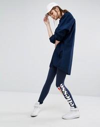 Леггинсы с логотипом сбоку Ellesse - Темно-синий