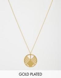 Ожерелье с подвеской Gorjana Shera - Золотой