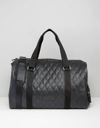 Стеганая сумка в кожаном стиле Heist - Черный